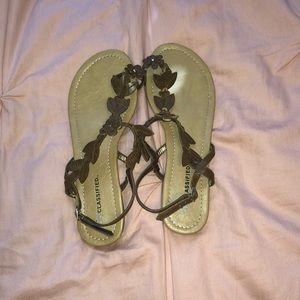 Cute brown leaf sandals